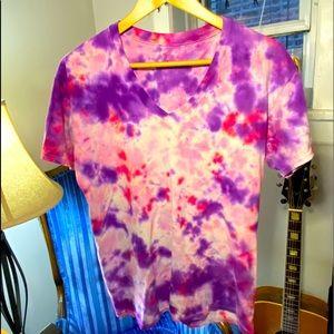 Coral Tie Dye V Kneck